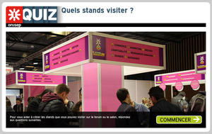 impression écran quiz quels stands visiter